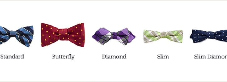 Which are the types of bow ties?
