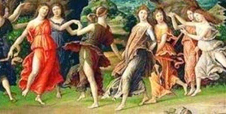 The nine arts patron muses in greek mythology